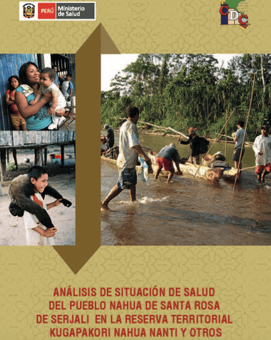 The front cover of the unpublished Health Ministry report leaked to the Guardian. Photograph: Peru's Health Ministry