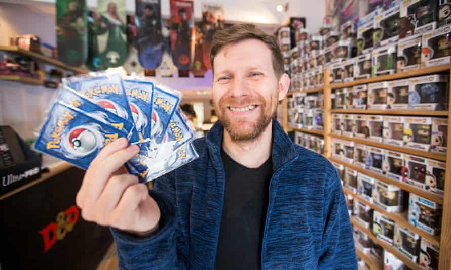 Roy Raftery, who runs a shop called Sneak Attack in Stratford, said the increase in value of Pokemon cards was a mixed blessing.
