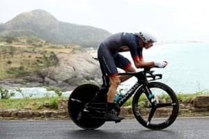 Chris Froome in action on his way to bronze.