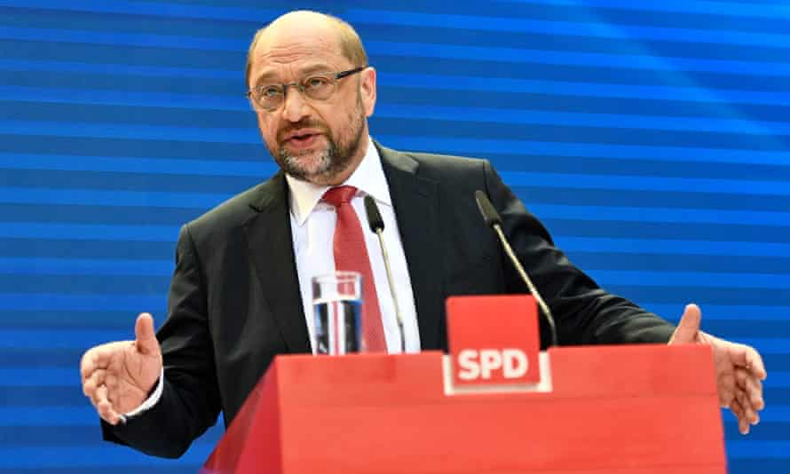 Martin Schulz, the leader of the SDP on the day after the Social Democrats suffered severe losses in the elections for a new federal parliament, the Bundestag.
