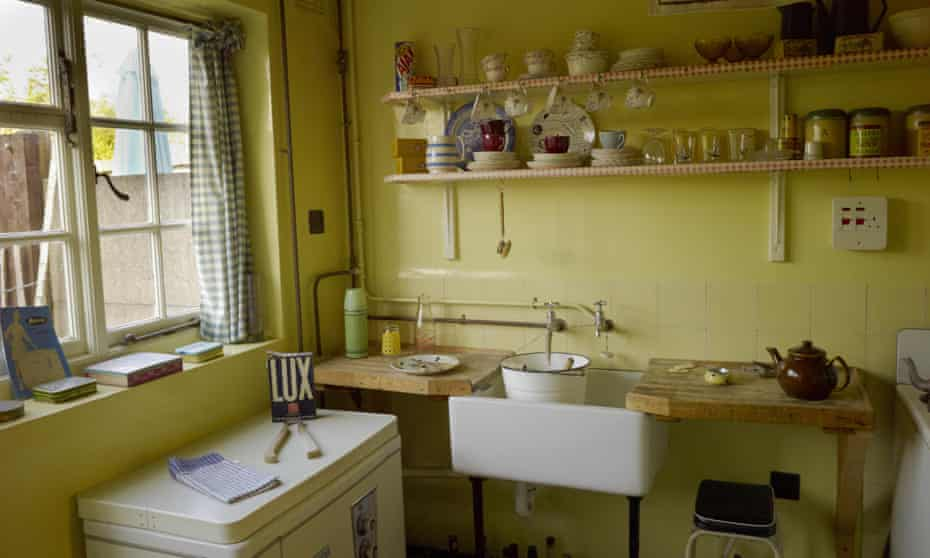 The kitchen at 20 Forthlin Road, Liverpool, the childhood home of Paul McCartney.