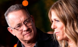 Tom Hanks and his wife actress/singer Rita Wilson.