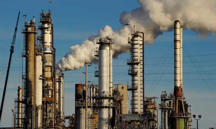 The Tesoro oil refinery in Washington state.