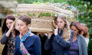 A natural funeral at Sacred Stones' green burial ground.