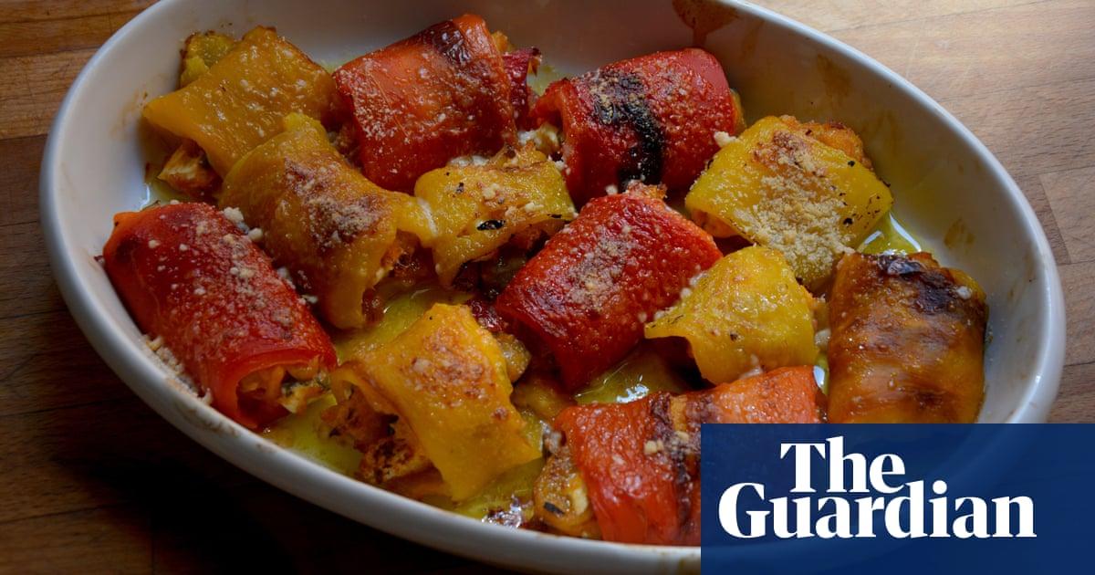 Rachel Roddy's recipe for stuffed red pepper rolls