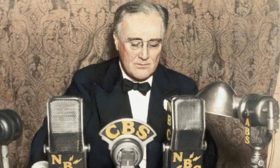 Boris Johnson will compare his £5bn 'New Deal' programme to Franklin Roosevelt's (pictured) reconstruction of the US economy in the wake of the Great Depression.