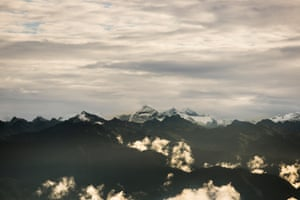 A view of the Himalayas from Dochu La