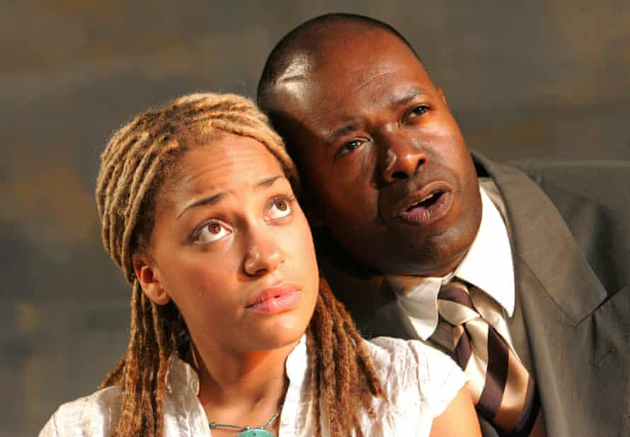 Cush Jumbo with Geoff Aymer in Brixton Stories at the Lyric Studio, Hammersmith, in 2006.