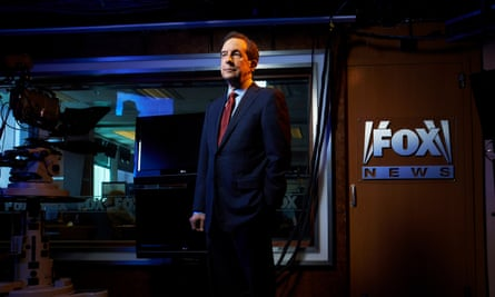 Chris Wallace, anchor of Fox News Sunday, on the set of his show at the Fox studios 2016.