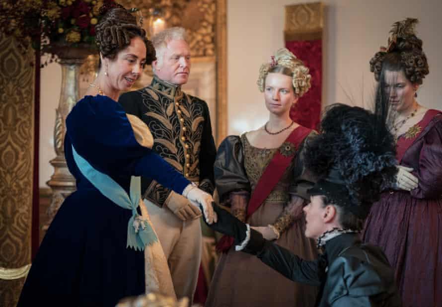 Anne Lister (Suranne Jones) meets the queen of Denmark (Sofie Gråbøl).