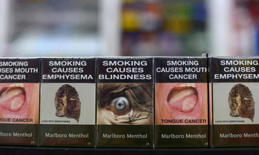 Packs of Philip Morris cigarettes in plain packaging in 2012. Australia's laws were the world's first and similar laws have since been put in place by other countries.