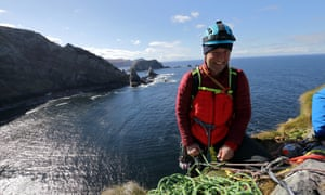 Adventurer and guide Iain Miller on Cnoc na Mara, Donegal