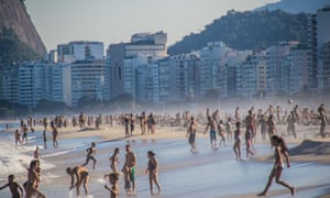 Crowded beaches after quarantine eases in Rio de Janeiro.