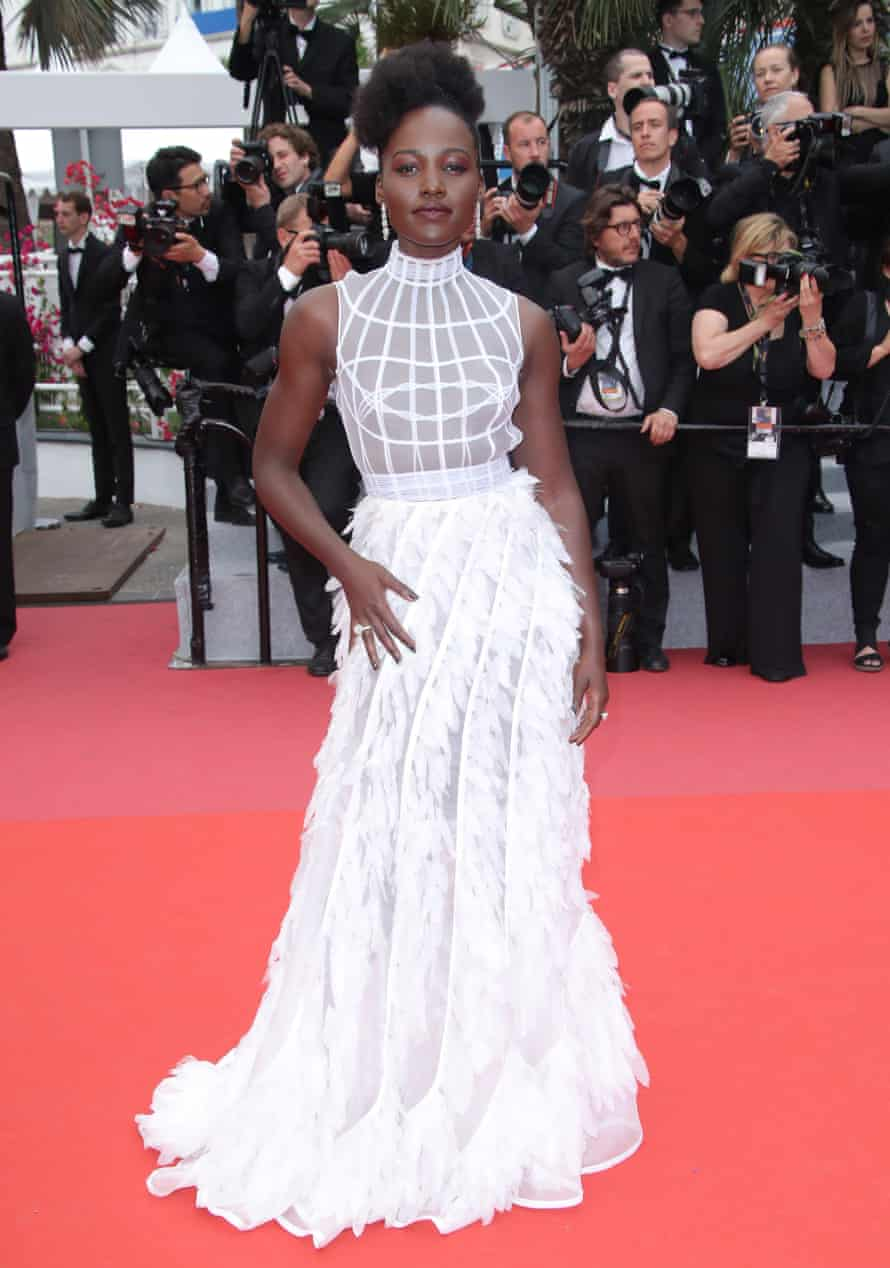 Lupita Nyong'o at the Cannes film festival this month
