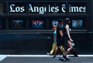 The old LA Times building in downtown Los Angeles.