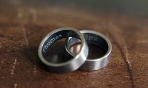 Kostura and DeKoe's wedding rings