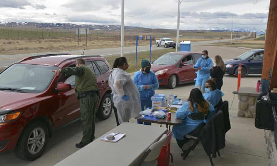 The Blackfeet tribe in northern Montana gave out surplus vaccines in April to its First Nations relatives and others from across the border.
