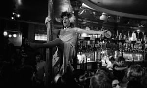 A drag artist at the Royal Vauxhall Tavern pub in Vauxhall, south London, 1976