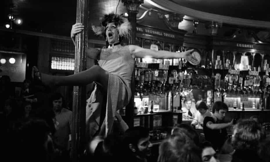 Drag Show at a the Royal Vauxhall Tavern pub in 1976.