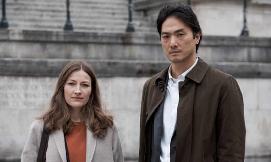 Kelly Macdonald and Takehiro Hira in Giri/Haji.