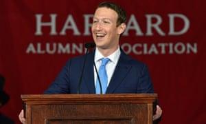 Mark Zuckerberg at Harvard in 2017