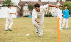 Thomas, 12, training at Leyton cricket ground