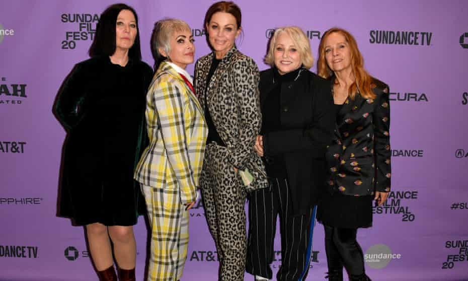 The Go-Gos at the Sundance film festival, 2020 (l to r):Kathy Valentine, Jane Wiedlin, Belinda Carlisle, Gina Shock, and Charlotte Caffey.