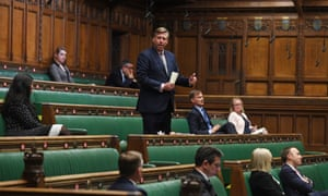 Sir Graham Brady speaking during a debate on the Coronavirus Act in the House of Commons