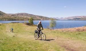 Cycling by Loch Katrine.