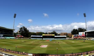 There's a lovely blue sky down at Kingsmead in Durban.