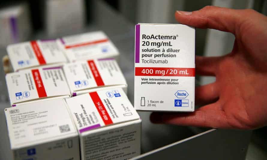 Tocilizumab is an anti-inflammatory drug used in the treatment of rheumatoid arthritis