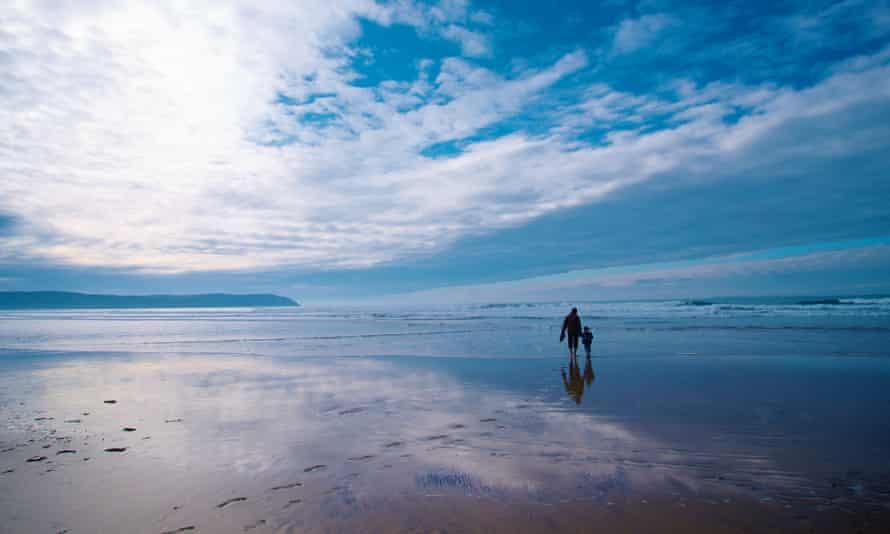 A walk along a beach