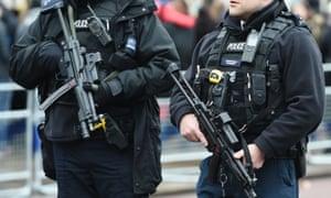 Firearms officers on duty