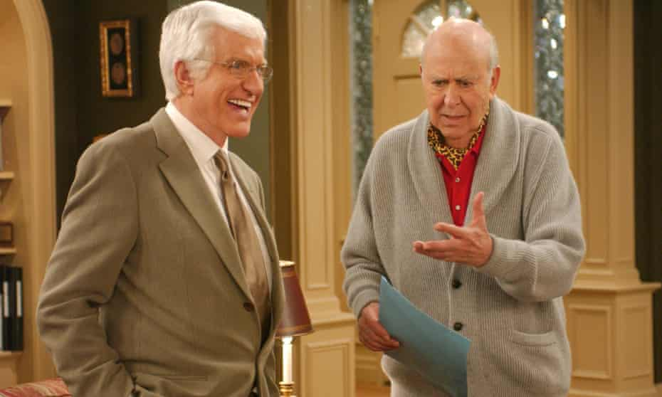 Slapstick landmark … Van Dyke and Reiner recreate The Dick Van Dyke Show.