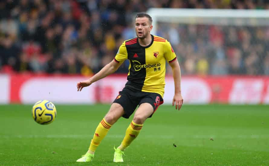 Tom Cleverley in action for Watford.