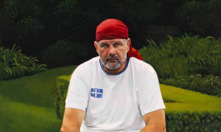 Artist Peter Smeeth's portrait of Peter FitzSimons: