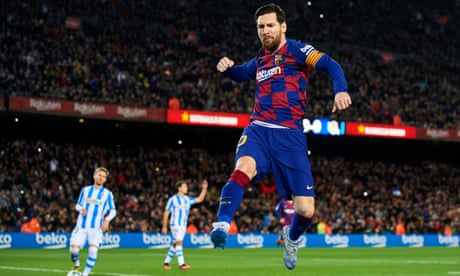 European roundup: Lionel Messi leaves it late to put Barcelona top