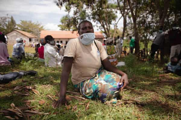 Celine Apondi is one of more than 3,000 displaced people currently living in Nyambare Secondary School.