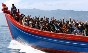 refugees on boat