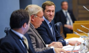 Belgium's Walloon minister Paul Magnette attends a meeting on Ceta in Namur, Belgium on Tuesday.