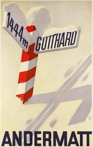 Andermatt / Gotthard, 1931, by Alex Walter Diggelmann