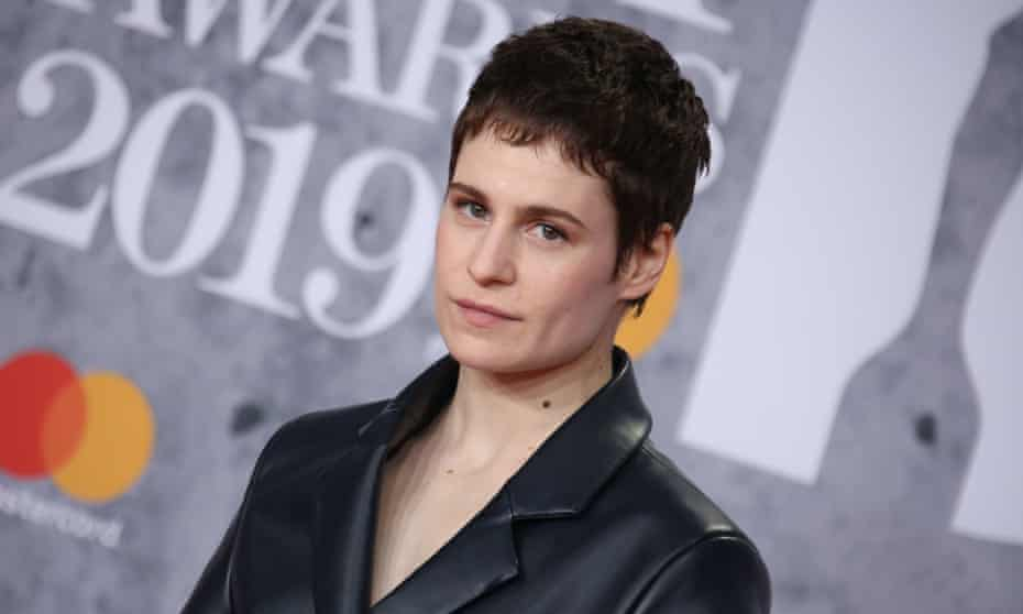 Chris of Christine and the Queens arrives at the Brit awards.