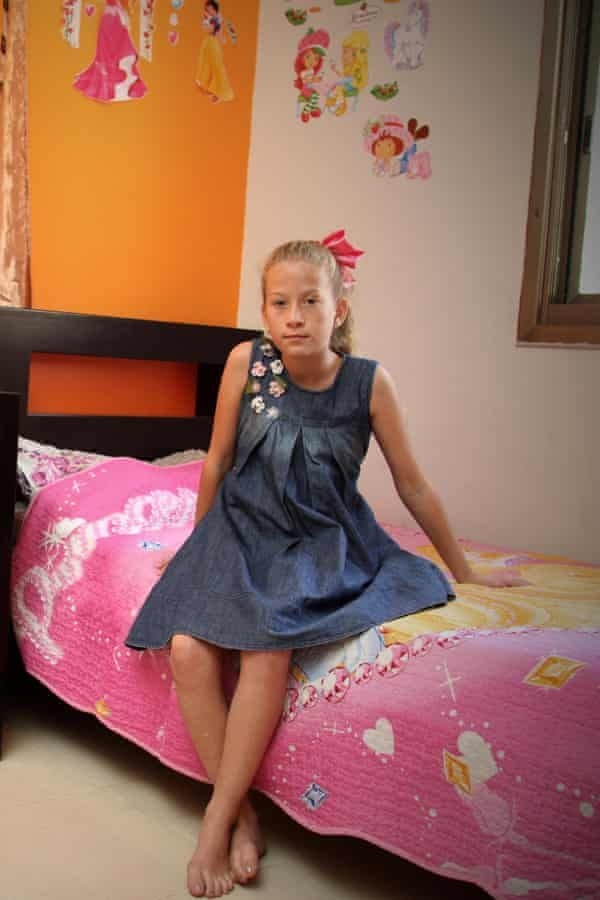 Ahed Tamimi pictured in her bedroom at the age of 12.
