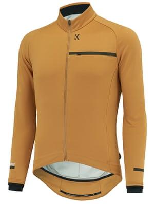 KALF Soft Shell Jacket gold against a white background