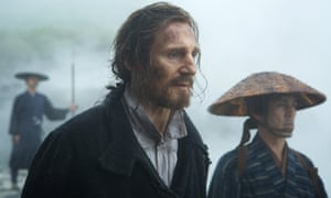Liam Neeson plays Father Ferreira in the film Silence.