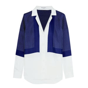 floral embroidered shirt blue and white
