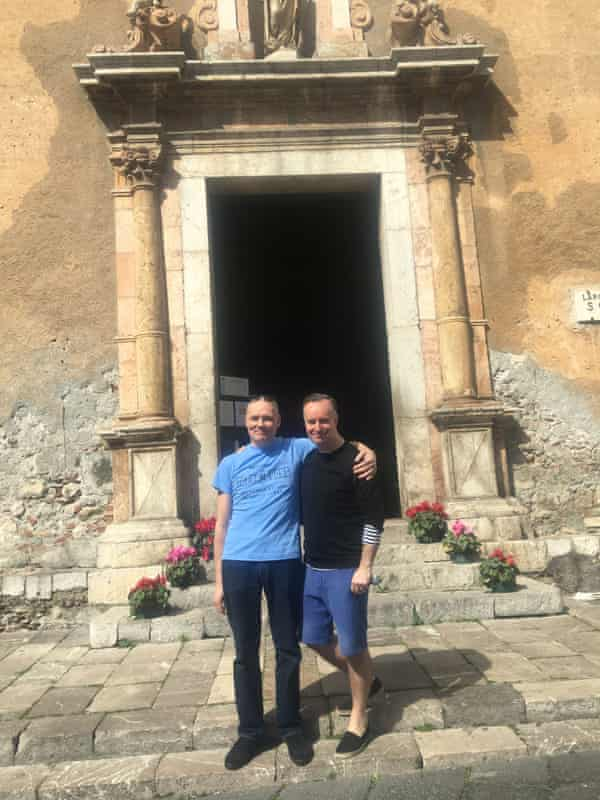 Martin and O'Hagan in Sicily together, 2018.