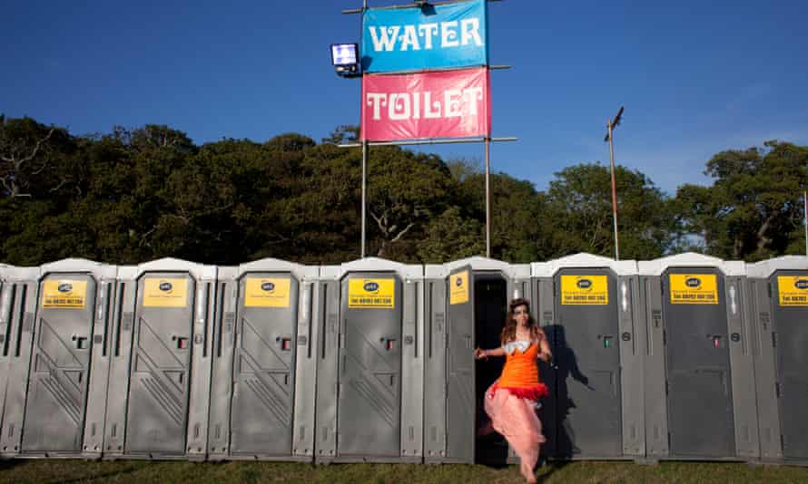 The toilets at Camp Bestival