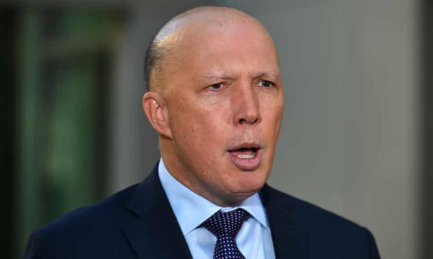 Australia's home affairs minister Peter Dutton