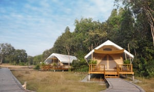 well-equipped safari tents at Cardamom Tented Camp